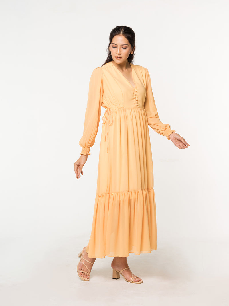 Linden Maxi Dress - Yellow