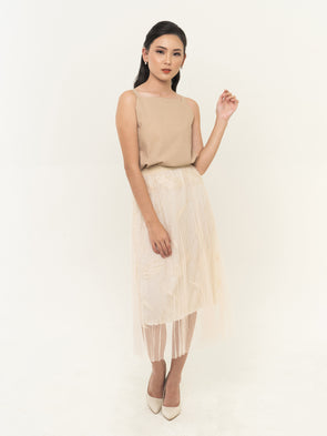 Meira Lace Skirt - CREAM