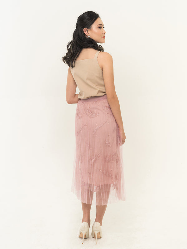 Meira Lace Skirt - PINK