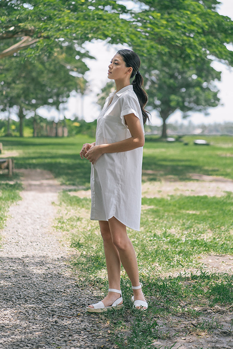 Minerva Cotton Shirt Dress