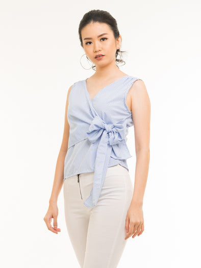 Nindy Striped Top - Blue