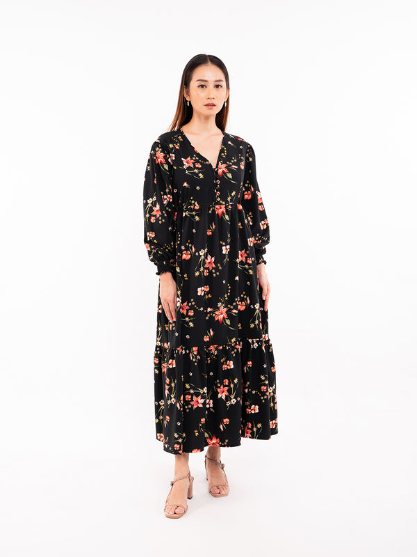Linden Maxi Dress - Black