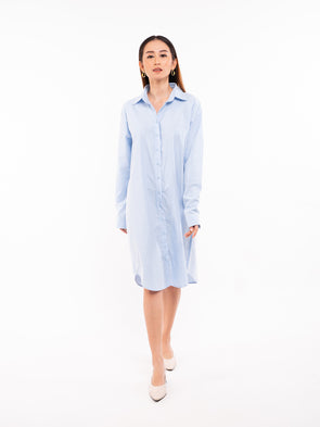 Nikita Shirt Dress - Baby Blue
