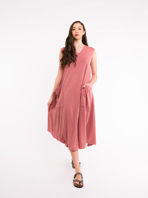 Reva Knit Dress - Dusty Pink