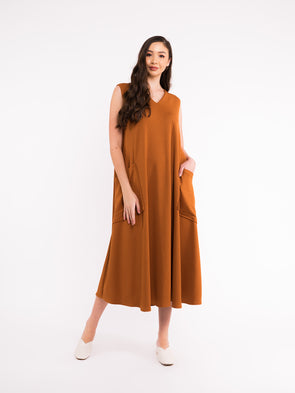 Reva Knit Dress - Mustard