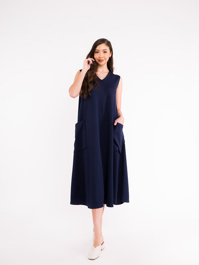 Reva Knit Dress - Navy