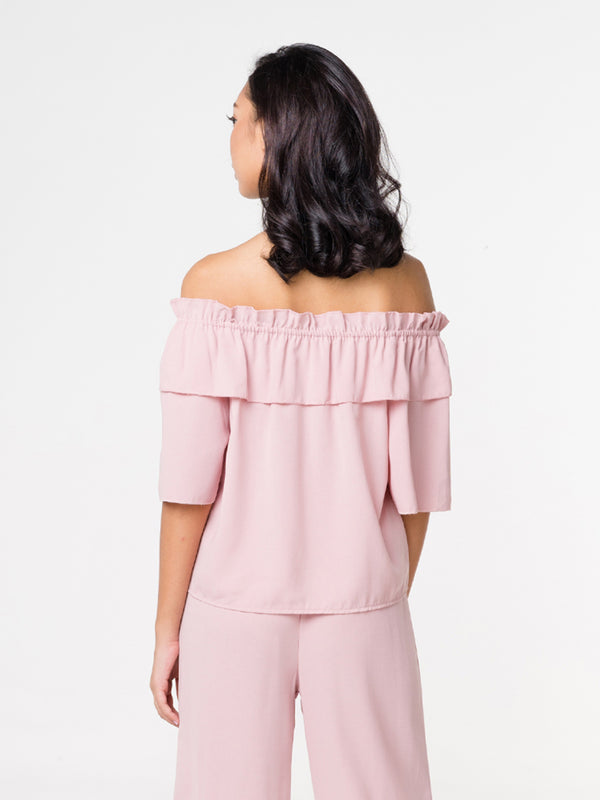 Sasha Off Shoulder Top - Pink