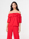 Sasha Off Shoulder Top - Red