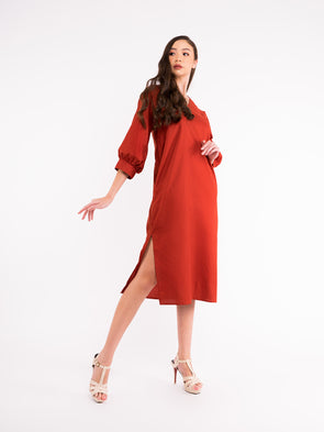 Serene Dress - Flame Scarlet