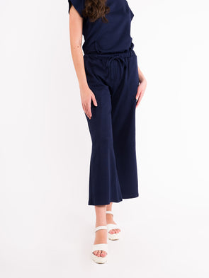 Talia Knit Pants - Navy