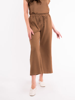 Talia Knit Pants - Olive Brown