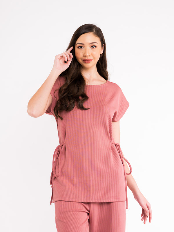 Talia Knit Top - Dusty Pink