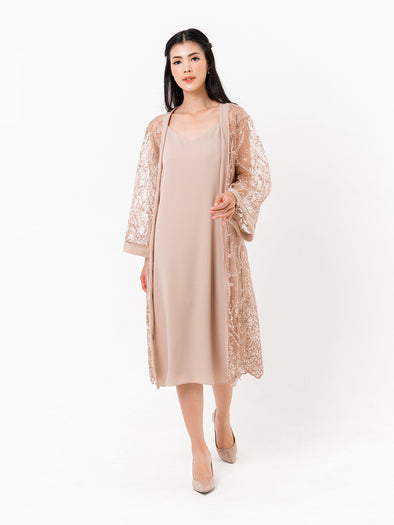 Zelia Flower Robe Brown (OUTER ONLY)
