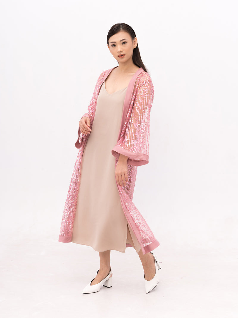 Zoey Roots PINK Embellished Robe (OUTER ONLY)