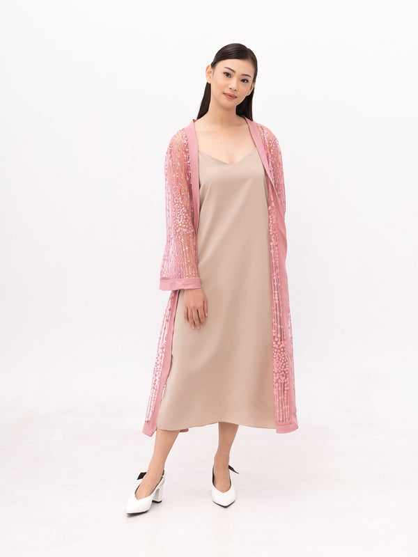 Zoey Roots PINK Embellished Robe (OUTER + INNER)