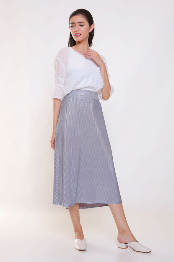 Gracy Pleated Skirt - Grey