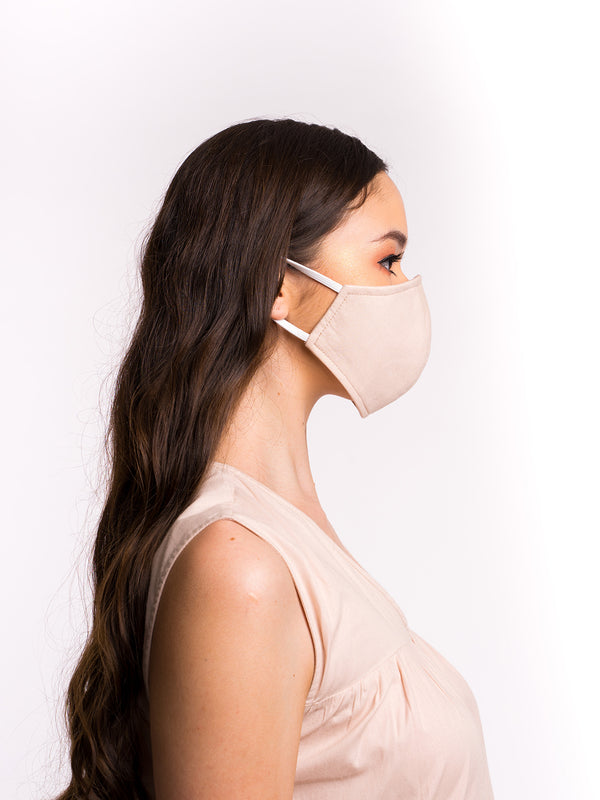 Aure Cotton Mask - Almond