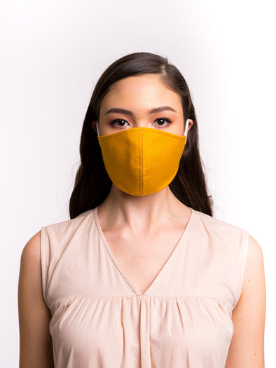 Aure Cotton Mask - Saffron Sunlight