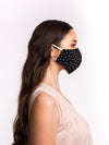 Shea Black Polka Mask