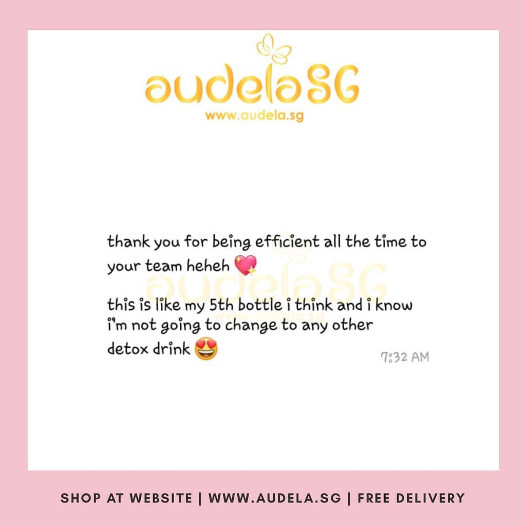 Hurray! 5th Bottle of Audela and I'm not going to change to any other detox drink.