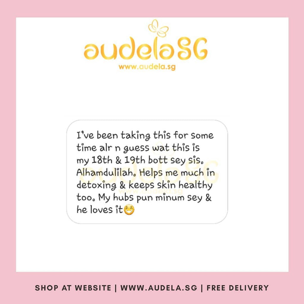 18th & 19th Bottle of AUDELA!! Helps me much in detoxing and keep skin healthy too.