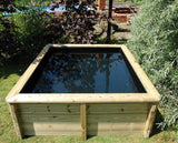 2m x 1m Rectangular Timber Raised Pond
