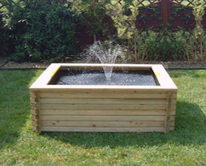 60 Gallon Square Raised Timber Pond - Plants for Ponds