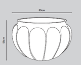 Botticelli Fibreglass Planter Dimensions - Container Pot/Ponds - Plants for Ponds Ltd.