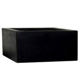 Polystone Low Cubic Pond Black- Container Pot/Ponds - Plants for Ponds Ltd.