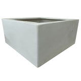 Polystone Low Cubic Pond White- Container Pot/Ponds - Plants for Ponds Ltd.