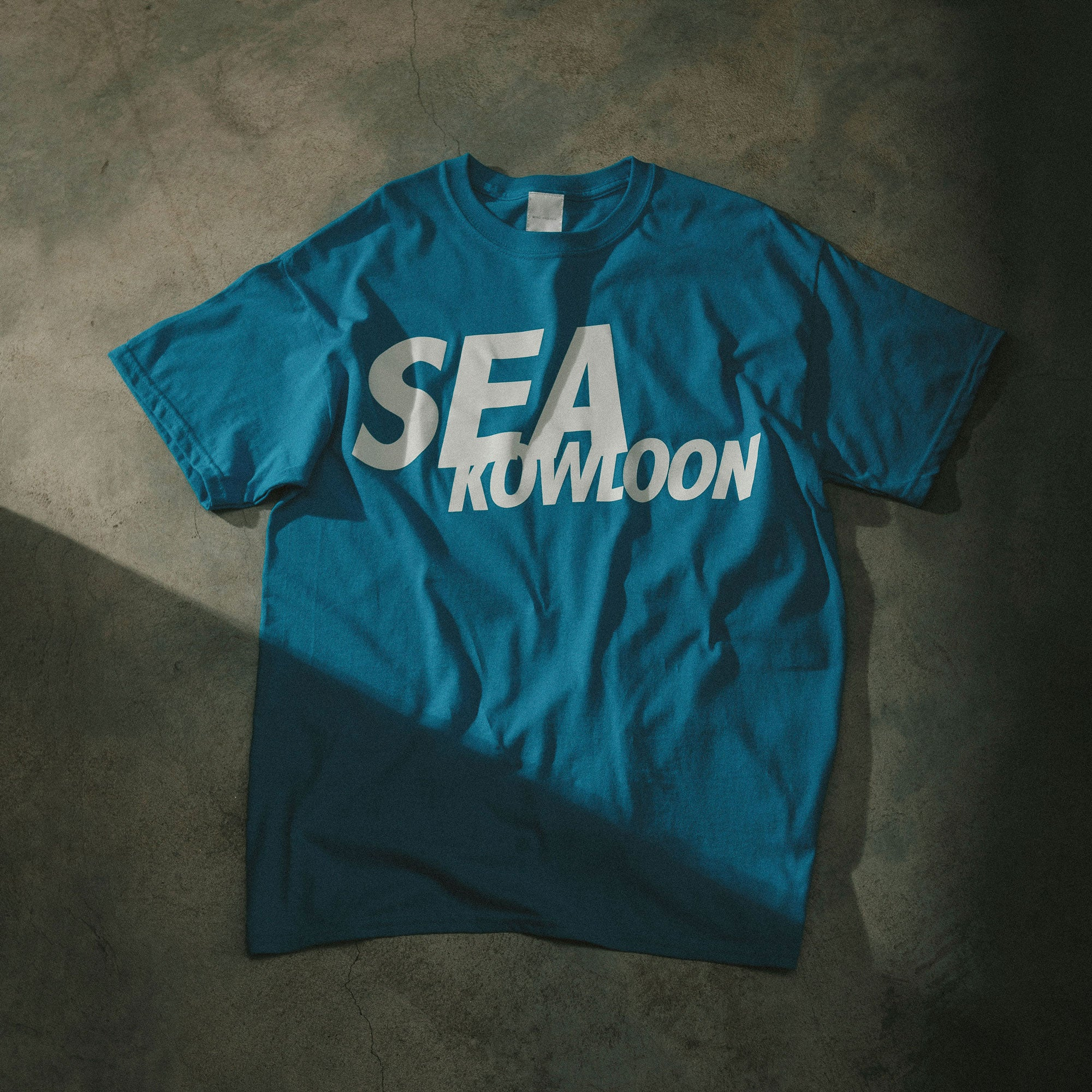 WIND AND SEA KOWLOON - BLUE TEE