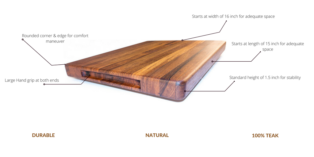 teak cutting board specs