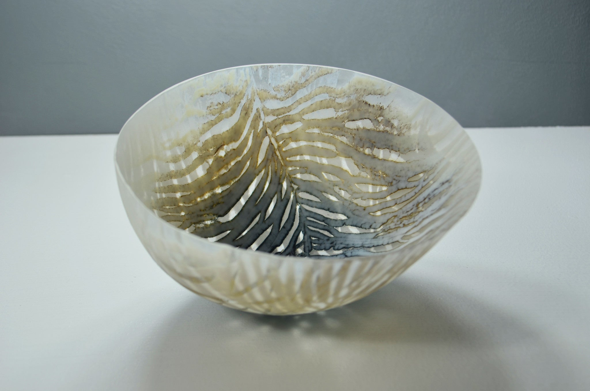 Feather from the Swallows medium glass vessel by Amanda Simmons