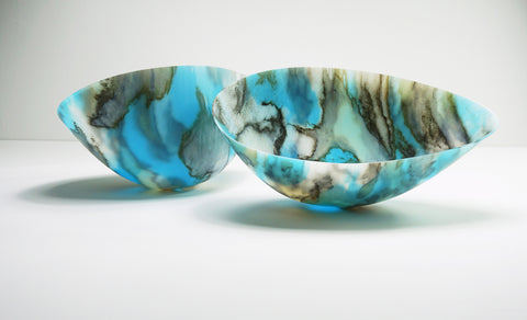 Skyform I, large kilnformed glass vessels, Amanda Simmons, The Scottish Gallery