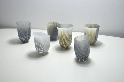 feather from the swallows kilnformed glass vessels amanda simmons
