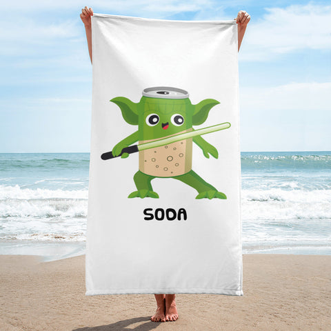 YODA MEETS SODA Towel
