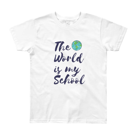 Youth Short Sleeve World Schooler T-Shirt / The World Is My School