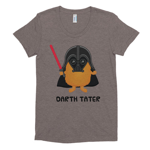 Women's Crew Neck Star Wars + Foodie T-shirt / Darth Tater / Darth Vader