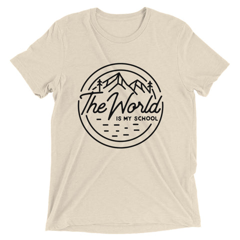 THE WORLD IS MY SCHOOL II Short sleeve t-shirt