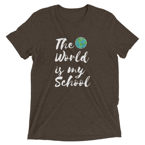 THE WORLD IS MY SCHOOL Short sleeve t-shirt