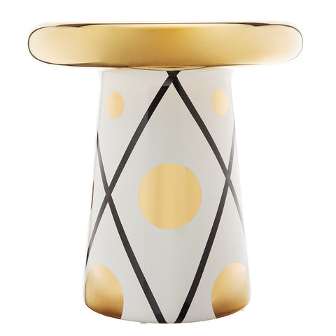 Bosa Decorative Side Table - Gold & Black