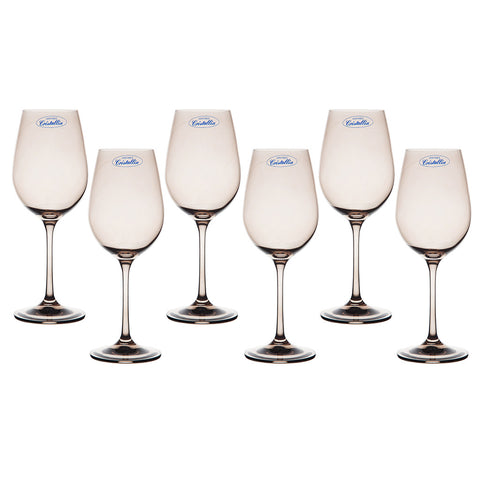 Aulica Smoke Tint Glasses 350ml - Set of 6