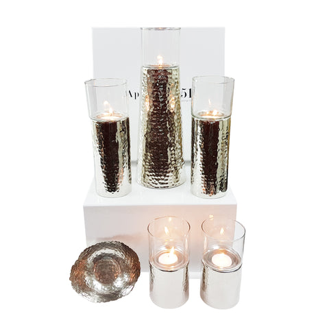 Aulica Candleholder Set with Free Taper Bowl-AULICA-Apartment 51 Dubai UAE