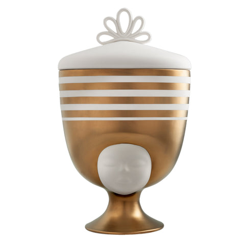 Bosa Louise Thai Vase With Matt White And Matt Gold Graphics