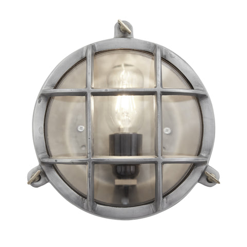 Vintage industrial round wall light flush mount bulkhead ip44 vintage industrial round wall light flush mount bulkhead ip44 mozeypictures Images