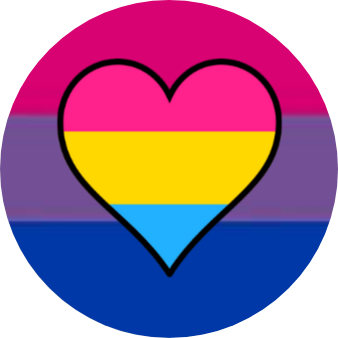 Badges - bi flag pan heart