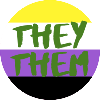 Badges - They Them non-binary flag