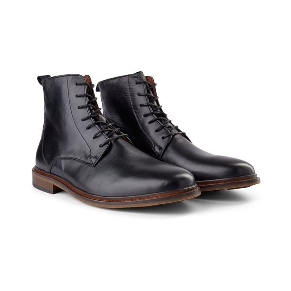 SHOE THE BEAR MENS Ned Leather Lace-up Boot Boots 110 BLACK