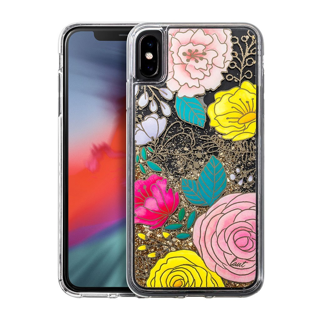 LAUT-GLITTER FLORAL for iPhone XS Max-Case-For iPhone XS Max