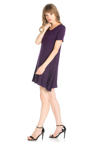 "ALYGNE Womens ""Blake"" Stretchy Flowy Short Sleeve Tunic Dress"
